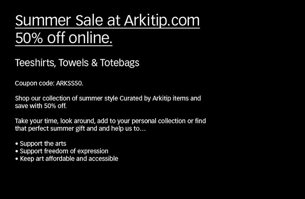 Summer 2016 Sale at Arkitip